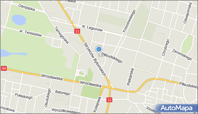 Bytom, Skwer Kobierskiego Leopolda, mapa Bytomia