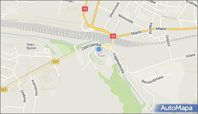 Bytom, Skwer o. Rocha Szajcy, mapa Bytomia
