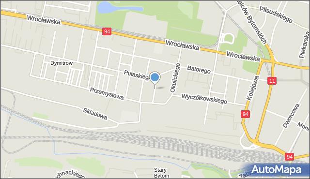 Bytom, Skłodowskiej-Curie Marii, mapa Bytomia