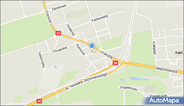 Bytom, Skośna, mapa Bytomia