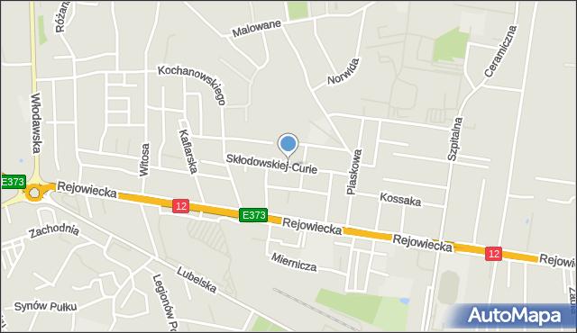 Chełm, Skłodowskiej-Curie Marii, mapa Chełma