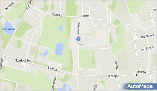 Chorzów, Składowa, mapa Chorzów
