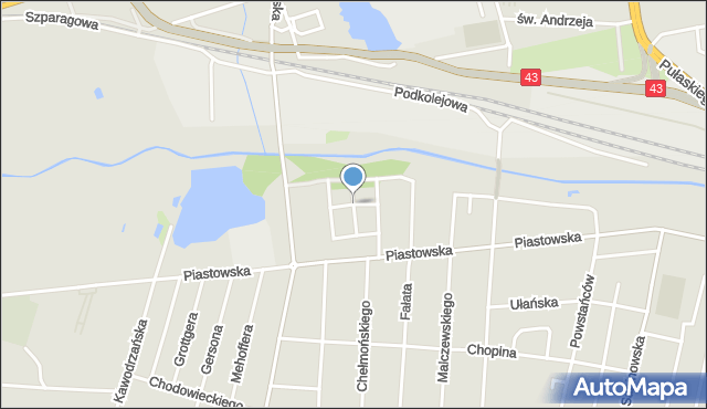 Częstochowa, Skoczylasa Władysława, mapa Częstochowy