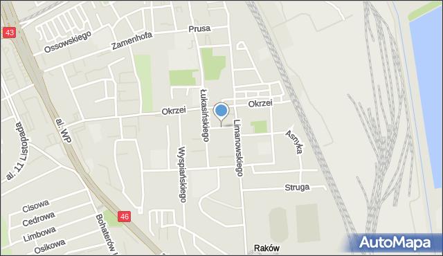 Częstochowa, Skorupki Ignacego Jana, ks., mapa Częstochowy