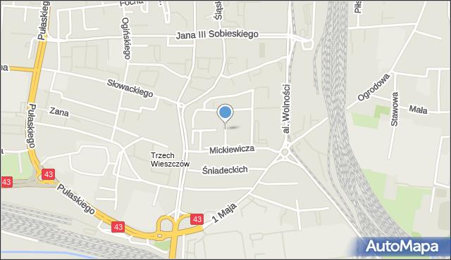Częstochowa, Skłodowskiej-Curie Marii, mapa Częstochowy
