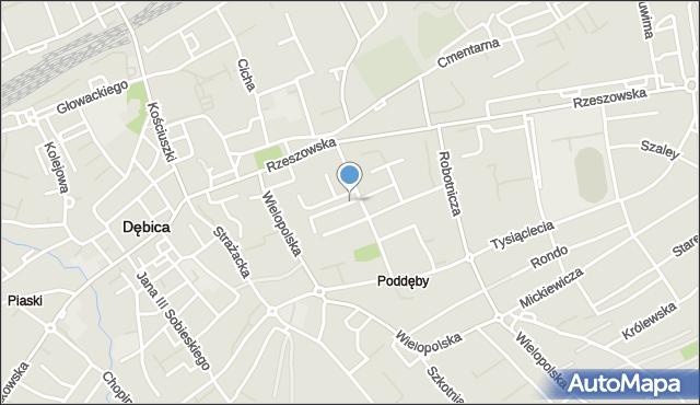 Dębica, Skłodowskiej-Curie Marii, mapa Dębicy