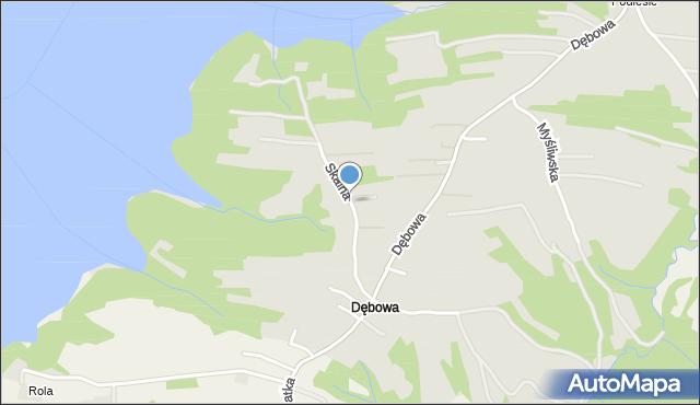 Dobczyce, Skalna, mapa Dobczyce