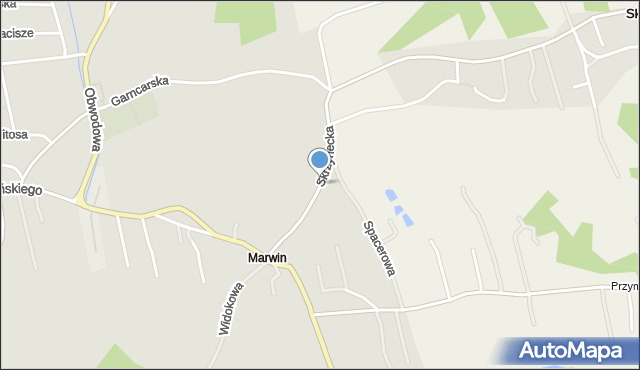 Dobczyce, Skrzynecka, mapa Dobczyce