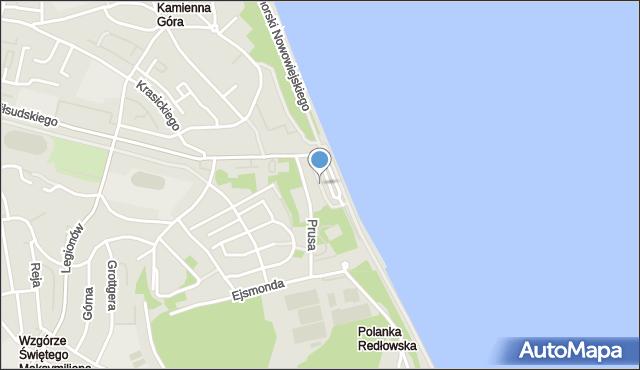 Gdynia, Skwer Arki Gdynia, mapa Gdyni