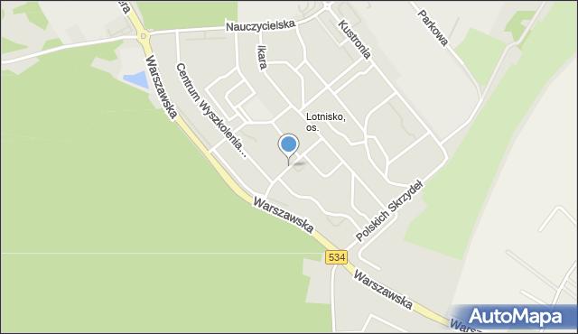 Grudziądz, Skarżyńskiego Stanisława, ppłk. pil., mapa Grudziądza