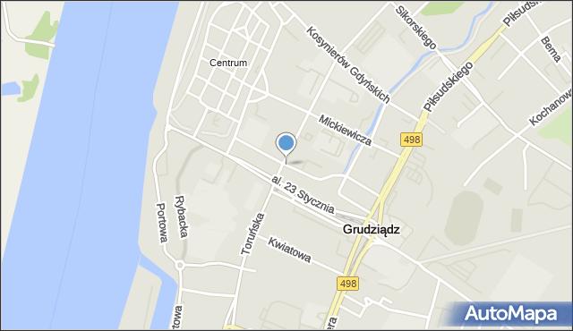 Grudziądz, Skłodowskiej-Curie Marii, mapa Grudziądza