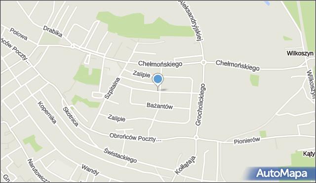 Jaworzno, Skowronków, mapa Jaworzno