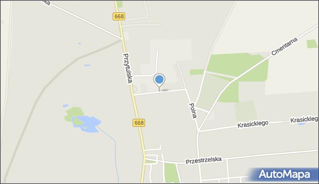 Jedwabne, Skłodowskiej-Curie Marii, mapa Jedwabne