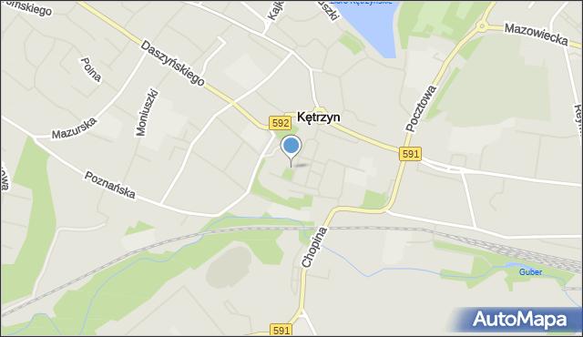Kętrzyn, Skwer św. Jana Pawła II, mapa Kętrzyn