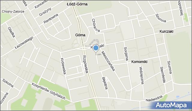 Łódź, Skupiona, mapa Łodzi