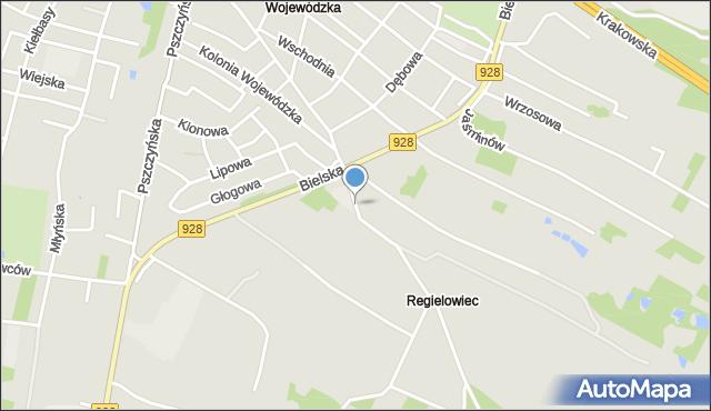 Mikołów, Skłodowskiej-Curie Marii, mapa Mikołów