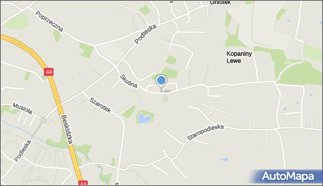 Mikołów, Skośna, mapa Mikołów