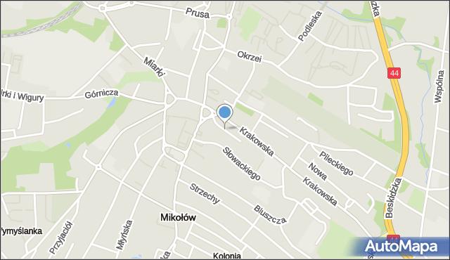 Mikołów, Skotnica, mapa Mikołów
