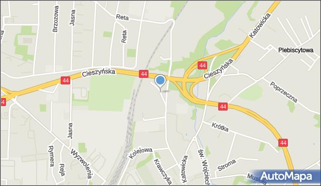Mikołów, Skrajna, mapa Mikołów