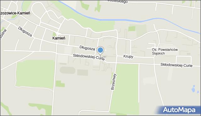 Piekary Śląskie, Skłodowskiej-Curie Marii, mapa Piekary Śląskie