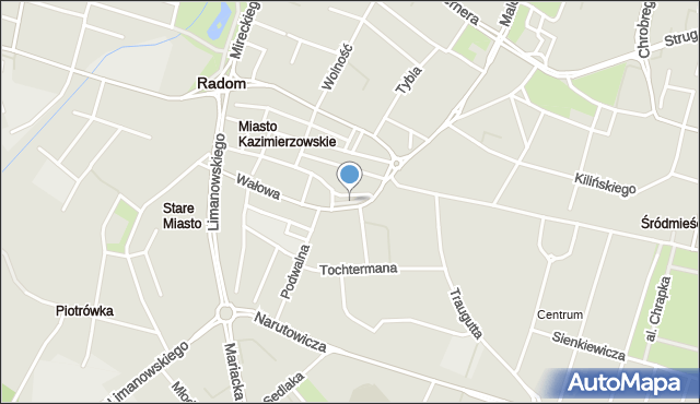 Radom, Skwer Unii Wileńsko-Radomskiej, mapa Radomia