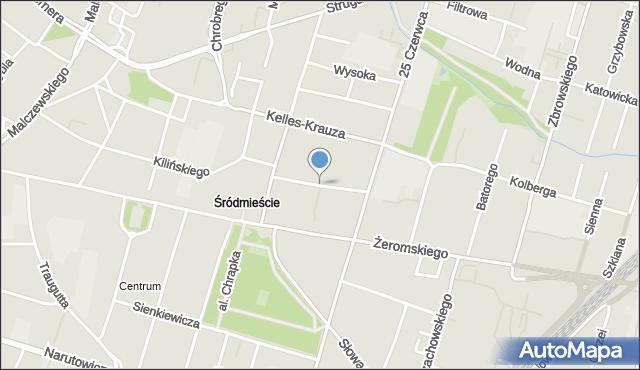 Radom, Skłodowskiej-Curie Marii, mapa Radomia