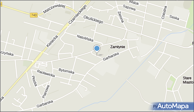 Radom, Skórzana, mapa Radomia