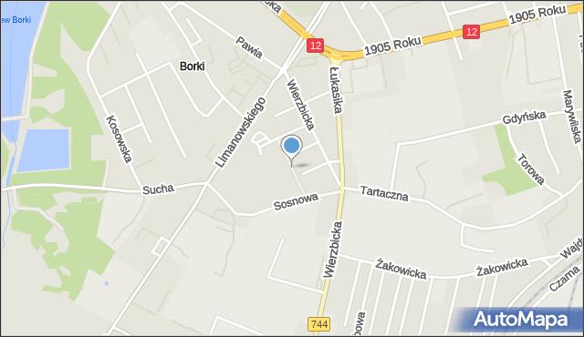 Radom, Składowa, mapa Radomia