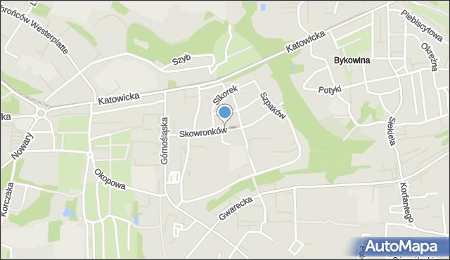Ruda Śląska, Skowronków, mapa Rudy Śląskiej
