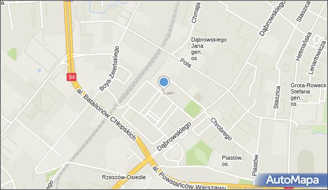 Rzeszów, Skłodowskiej-Curie Marii, mapa Rzeszów