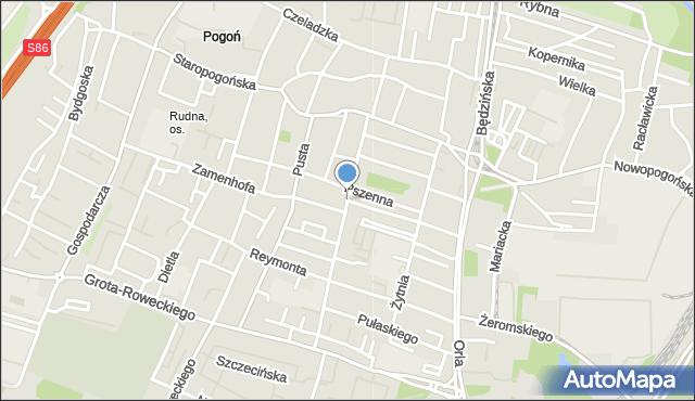 Sosnowiec, Skłodowskiej-Curie Marii, mapa Sosnowca