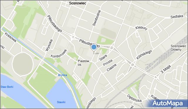 Sosnowiec, Składowa, mapa Sosnowca
