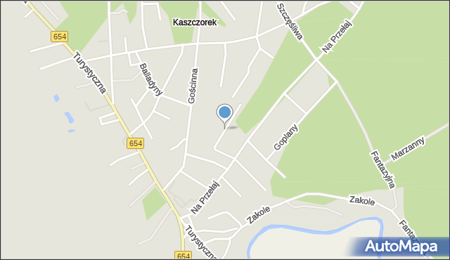 Toruń, Skierki, mapa Torunia