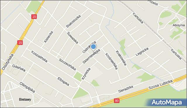 Toruń, Skierniewicka, mapa Torunia