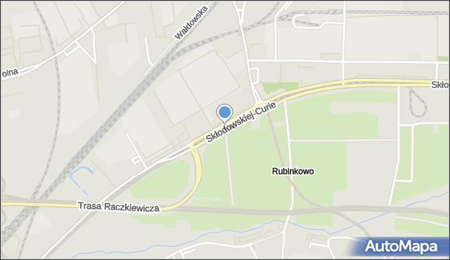 Toruń, Skłodowskiej-Curie Marii, mapa Torunia
