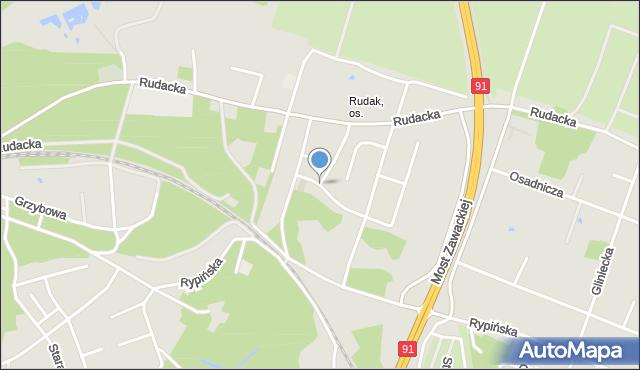 Toruń, Skrzetuskiego Jana, mapa Torunia