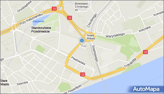 Toruń, Skrzyńskiego Stanisława, gen., mapa Torunia