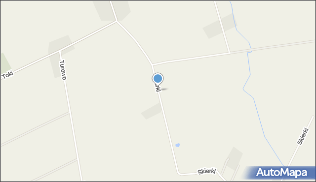 Turowo gmina Czernice Borowe, Skierki, mapa Turowo gmina Czernice Borowe