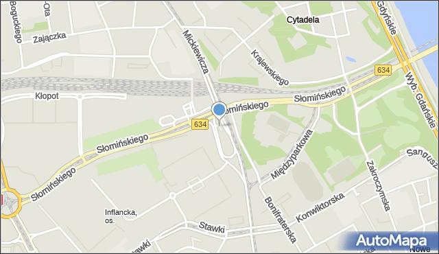 Warszawa, Skwer Batalionu AK Czata 49, mapa Warszawy