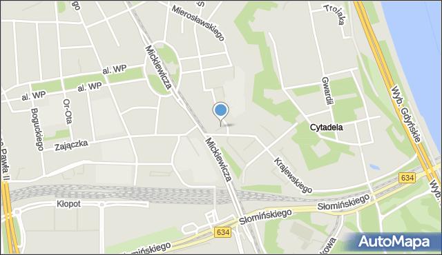 Warszawa, Skwer Bergera Ludwika, mapa Warszawy