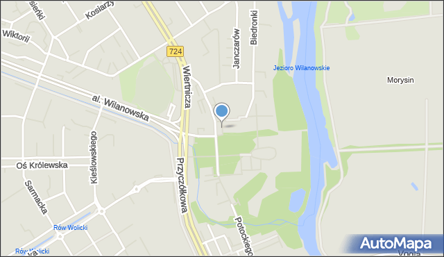 Warszawa, Skwer Prymasowski, mapa Warszawy