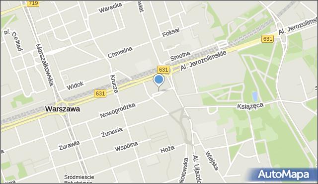 Warszawa, Skwer Wolnego Słowa, mapa Warszawy