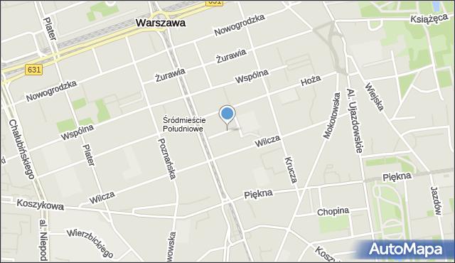 Warszawa, Skorupki Ignacego Jana, ks., mapa Warszawy