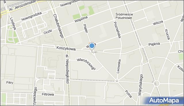 Warszawa, Skwer 3 Batalionu Pancernego AK Golski, mapa Warszawy