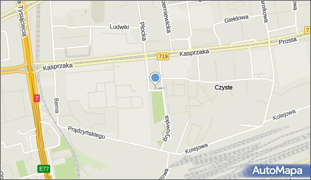 Warszawa, Skwer Pawełka Alojzego, mapa Warszawy