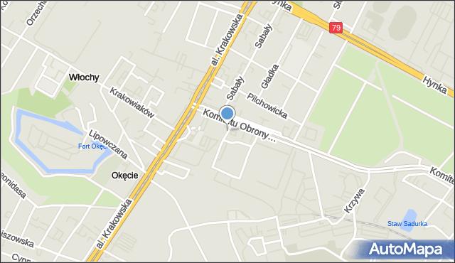 Warszawa, Skrzydlata, mapa Warszawy