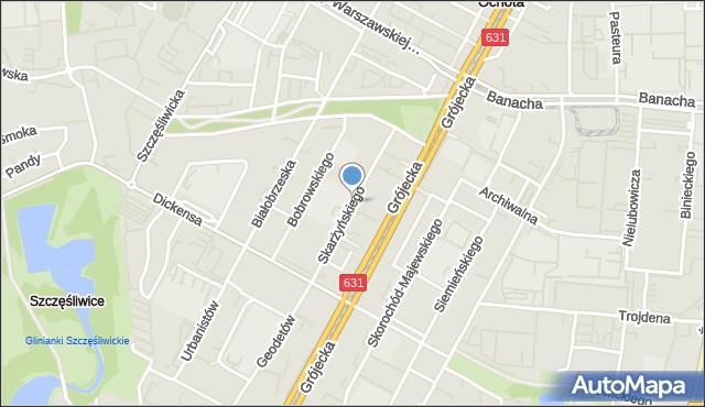 Warszawa, Skarżyńskiego Stanisława, mapa Warszawy