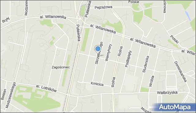 Warszawa, Skrzetuskiego, mapa Warszawy