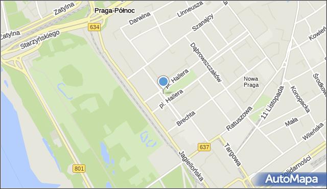 Warszawa, Skoczylasa Władysława, mapa Warszawy