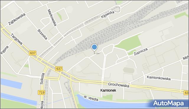 Warszawa, Skaryszewska, mapa Warszawy